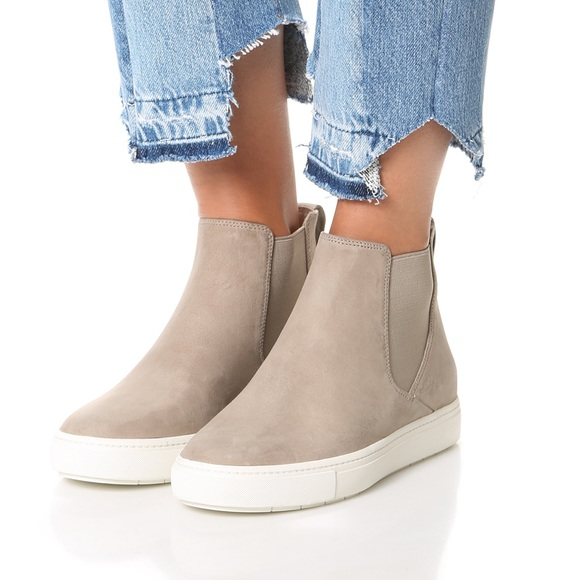 VINCE Newlyn High Top Sneaker in New Stone